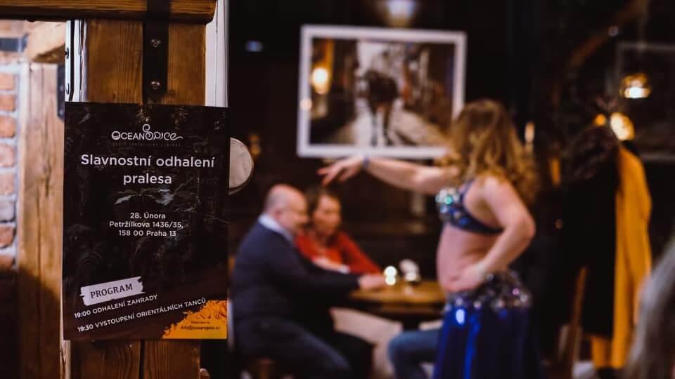 Břišní tanečnice při firemní oslavě v restauraci Ocean Spice